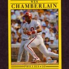1991 Fleer Baseball #391 Wes Chamberlain RC - Philadelphia Phillies