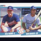 1990 Fleer Baseball #642 Kelly Mann RC / Dave Hansen RC