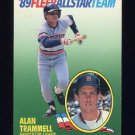 1989 Fleer Baseball All-Stars #11 Alan Trammell - Detroit Tigers