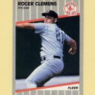 1989 Fleer Baseball #085 Roger Clemens - Boston Red Sox NM-M