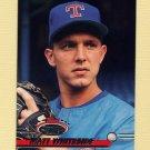 1993 Stadium Club Baseball #474 Matt Whiteside RC - Texas Rangers