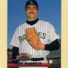 1993 Stadium Club Baseball #414 Jeff Parrett - Colorado Rockies