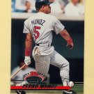 1993 Stadium Club Baseball #117 Pedro Munoz - Minnesota Twins