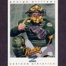 1997 Score Baseball #315 George Williams - Oakland A's