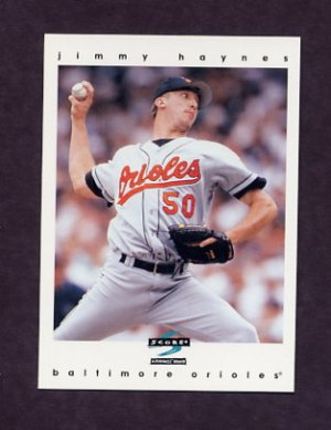 1997 Score Baseball #234 Jimmy Haynes - Baltimore Orioles