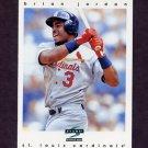 1997 Score Baseball #055 Brian Jordan - St. Louis Cardinals