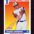 1991 Score Baseball #674 Shane Andrews RC - Montreal Expos