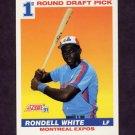 1991 Score Baseball #390 Rondell White RC - Montreal Expos
