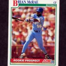 1991 Score Baseball #331 Brian McRae RC - Kansas City Royals