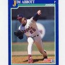 1991 Score Baseball #105 Jim Abbott - California Angels