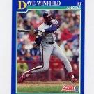 1991 Score Baseball #083 Dave Winfield - California Angels