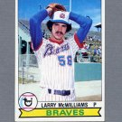 1979 Topps Baseball #504 Larry McWilliams RC - Atlanta Braves