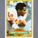 1980 Topps Football #233 Henry Marshall - Kansas City Chiefs