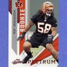 2009 Absolute Memorabilia Football Spectrum Red #183 Rey Maualuga RC - Cincinnati Bengals