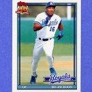 1991 Topps Baseball #600 Bo Jackson - Kansas City Royals
