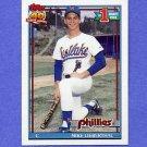 1991 Topps Baseball #471 Mike Lieberthal RC - Philadelphia Phillies