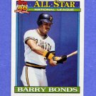 1991 Topps Baseball #401 Barry Bonds AS - Pittsburgh Pirates