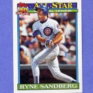 1991 Topps Baseball #398 Ryne Sandberg AS - Chicago Cubs