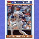 1991 Topps Baseball #392 Ken Griffey Jr. AS - Seattle Mariners