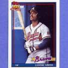 1991 Topps Baseball #306A Lonnie Smith - Atlanta Braves ERROR