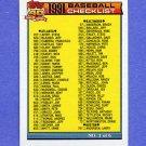 1991 Topps Baseball #131A Checklist 1 ERROR