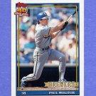 1991 Topps Baseball #095 Paul Molitor - Milwaukee Brewers