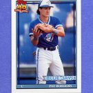 1991 Topps Baseball #049A Pat Borders - Toronto Blue Jays ERROR