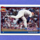 1991 Topps Baseball #001 Nolan Ryan RB - Texas Rangers NM-M