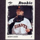 1996 Score Baseball #496 Shawn Estes - San Francisco Giants