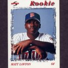 1996 Score Baseball #495 Matt Lawton RC - Minnesota Twins
