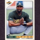 1996 Score Baseball #455 Ernie Young - Oakland A's