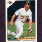 1996 Score Baseball #310 Mark McGwire - Oakland A's