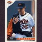 1996 Score Baseball #301 Mike Mussina - Baltimore Orioles