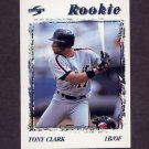 1996 Score Baseball #229 Tony Clark - Detroit Tigers