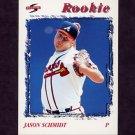 1996 Score Baseball #228 Jason Schmidt - Atlanta Braves