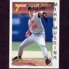 1996 Score Baseball #197 Mike Mussina RR - Baltimore Orioles