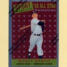 1997 Topps Baseball Mantle Finest Insert #25 Mickey Mantle - New York Yankees
