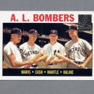 1997 Topps Baseball Mantle Insert #36 Mickey Mantle / Roger Maris / Al Kaline / Norm Cash