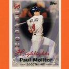 1997 Topps Baseball #463 Paul Molitor SH - Minnesota Twins