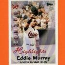 1997 Topps Baseball #462 Eddie Murray SH - Baltimore Orioles