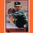 1997 Topps Baseball #448 John Wasdin - Oakland A's