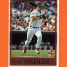 1997 Topps Baseball #421 Kevin Seitzer - Cleveland Indians