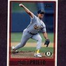 1997 Topps Baseball #279 Ariel Prieto - Oakland A's