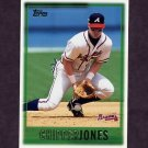 1997 Topps Baseball #277 Chipper Jones UER - Atlanta Braves