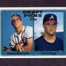 1997 Topps Baseball #274 Jason Marquis RC / A.J. Zapp RC - Atlanta Braves