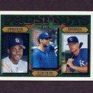 1997 Topps Baseball #203 Homer Bush / Felipe Crespo / Jed Hansen