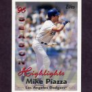 1997 Topps Baseball #104 Mike Piazza HL - Los Angeles Dodgers