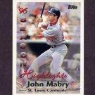 1997 Topps Baseball #102 John Mabry HL - St. Louis Cardinals