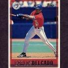 1997 Topps Baseball #092 Carlos Delgado - Toronto Blue Jays