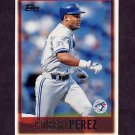 1997 Topps Baseball #072 Robert Perez - Toronto Blue Jays